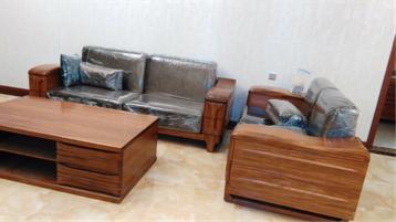 实木沙发的安装